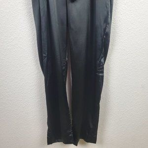 Nasty Gal Pants & Jumpsuits - Nasty Gal Satin Plunging Black Jumpsuit